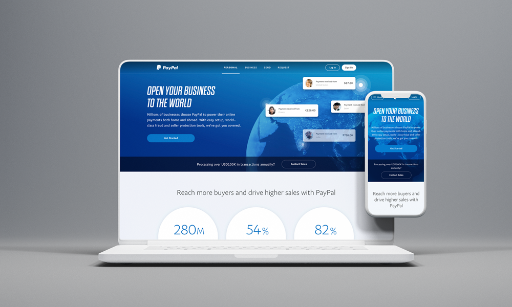 PayPal Merchant Page Redesign
